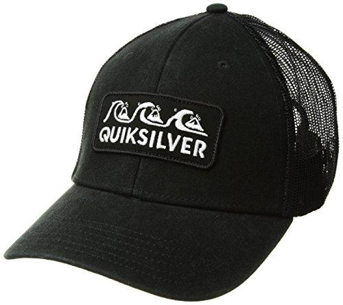Quiksilver Wharf Beater Trucker Hat, O/S, Black (Black Quiksilver Hat)