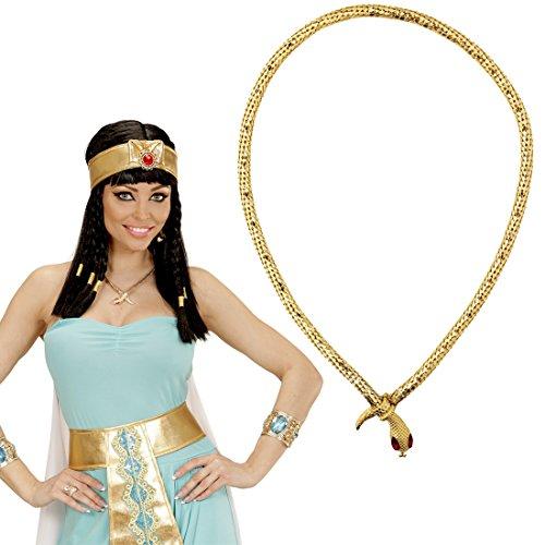 e Goldene Cleopatra Kette Antike Pharao Schlangenkette Königin Schlangencollier Schlangen Halsschmuck Ägypten Göttin Schmuckkette Kostüm Accessoire (ägyptischer Halsschmuck)