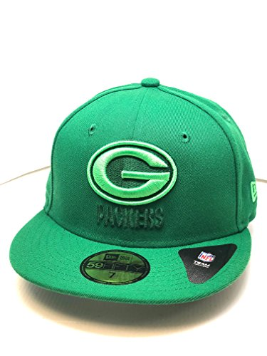 Packers - 59Fifty Fitted Cap Kappe - Color Pop Grün - NFL Football (7 1/4) ()
