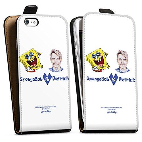 Apple iPhone X Silikon Hülle Case Schutzhülle Spongebob Merchandise Fanartikel Patrick Mohr Downflip Tasche schwarz