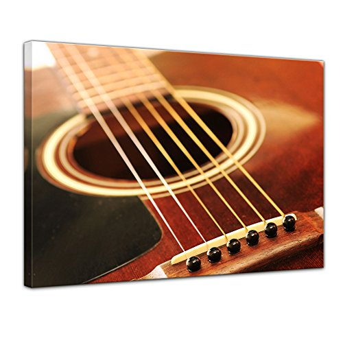 Kunstdruck - Gitarre - Bild auf Leinwand 120 x 90 cm - Leinwandbilder - Bilder als Leinwanddruck - Kunst & Life Style - Musik - Instrument - Gitarrenkorpus