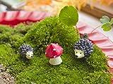 Ginsco 8pcs Miniature Fairy Garden Dollhouse Villa Style DIY kit Christmas Gifts