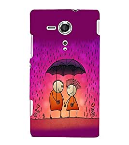 printtech Love Couple Raining Back Case Cover for One Plus X