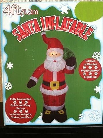 Santa Claus mit Geschenken 4ft Weihnachten Airblown aufblasbare