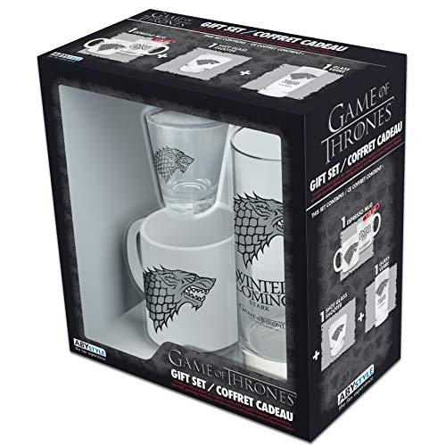 ABYstyle Z891030 Game of Thrones - Pack regalo con taza y 2 copas, Blanco/ Negro