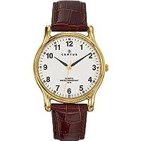 Certus 611231 - Reloj analógico de cuarzo para hombre con correa de piel, color marrón de Certus