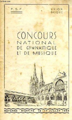 CONCOURS NATIONAL DE GYMNASTIQUE ET DE MUSIQUE