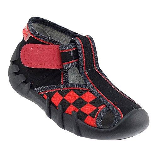 Gallux - Jungen Hausschuhe Schuhe tolle Halbsandalen Schwarz