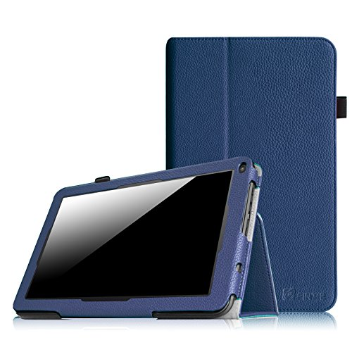 Fintie Premium Kunstleder Folio Hülle Case Schutzhülle Tasche Etui für Dragon Touch A93 9'' Quad Core Tablet PC Google Android 4.4 KitKat, Time2 Tablet-PC 9 Zoll - Marineblau