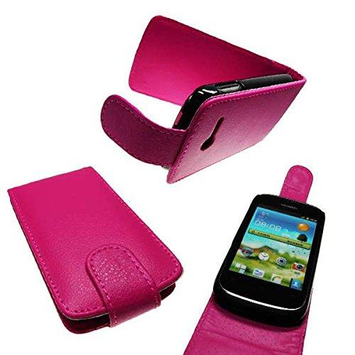 caseroxx Handyhülle mit Flip-Cover für Huawei Ascend Y201 pro, Schutzhülle für das Smartphone Flipcase (Handytasche klappbar in pink)