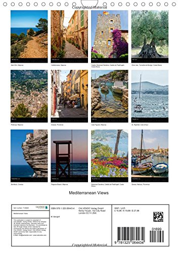 Mediterranean Views (Wall Calendar 2016 DIN A4 Portrait): Pictures from various holiday locations around the Mediterranean (Monthly calendar, 14 pages) (Calvendo Places)