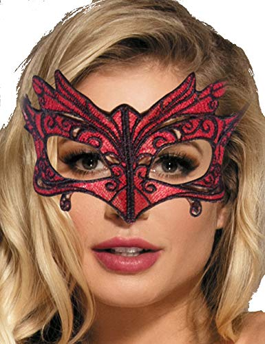 M Damen Mehrfarbig One Size Augen-Maske Kostüme Party Halloween Karneval Wild Geheimnisvoll ()