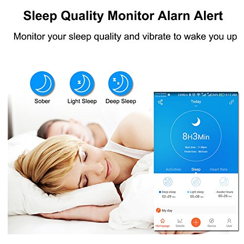 CrazyLynX Fitness Tracker IP67 Waterproof Heart Rate Monitor Tracker Smart Bracelet Activity Tracker Bluetooth Pedometer With Sleep Monitor Smart Watch For Android IOS Smart Phone