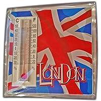Union Jack e London-Termometro magnetico,#1 Top Selling, a forma di Union Jack, chiusura magnetica, con termometro! Souvenir/Speicher/Memoria! Classic, resistente, in acrilico, da-Magnete! divertente per tutte le condizioni climatiche in Class-Termometro magnetico, da collezione, Souvenir! Aimant/Magnet/calamite Imán!