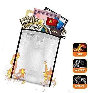 Pawaca Feuerfeste Dokumententasche, Feuerfest und Wasserdicht Umschlag-Halter Feuerfestes Tasche für Geldtasche, Dokumenten, Pässe, Wertsachen und Schmuck Schutz (26 X 34CM)