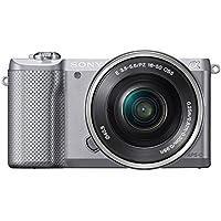 "Sony Alfa 5000 - Cámara EVIL de 20.1 Mp (pantalla articulada 3"", estabilizador, vídeo Full HD, WiFi), color plateado - kit con objetivo 16-50mm f/3.5 OSS"