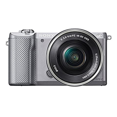 Sony ILCE-5000LS Appareil Photo Numérique Hybride, Capteur APS-C, 20,1 Mpix + Objectif 16-50 mm Rétractable Argent