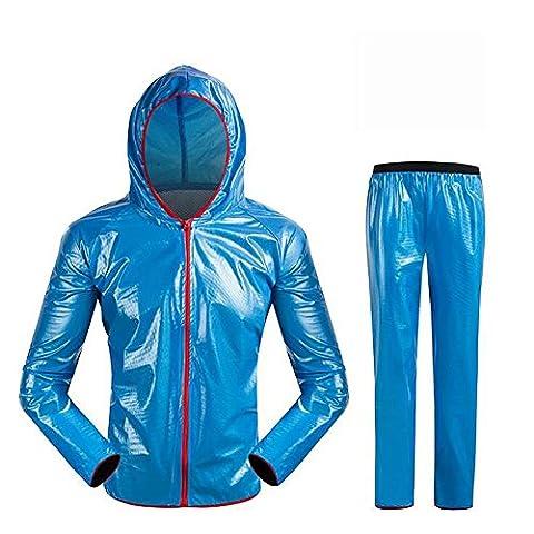 Lei HuanLeBao Fahrrad-Reit-Service Wasserdicht Breathable Täglich Outdoor Reisen Camping Windschutz Reiten Anzug Reiten Regenmantel , blue , xl