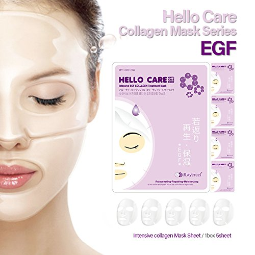 hellocare-5pcs-intensive-egf-collagen-treatment-facial-mask-sheets-pack-x-5-sheets-daily-skincare-re