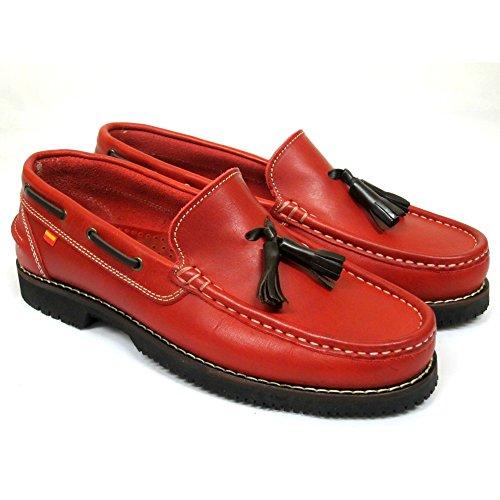 La Valenciana , Herren Bootsschuhe Rot