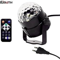 Mini bola lámpara mágica RGB efecto LED de rotación de bola de cristal activado por voz
