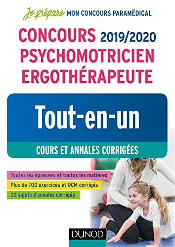Concours 2019/2020 Psychomotricien Ergothérapeute - Tout-en-un - Cours et annales corrigées par Corinne Pelletier