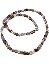 a90081ae6b85 El Coral Collar Perlas Multicolor Pastel 60cm Longitud