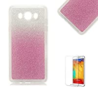 For Samsung Galaxy A3 (2015 Model) Case [with Free Screen Protector], Funyye Soft Silicone Gel TPU Ultra Thin Slim Glitter Pink Gradual Colour Changing Protective Rubber Bumper Case Cover Shell for Samsung Galaxy A3 (2015 Model)