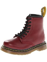 Dr. Martens INFANTS Softy T CHERRY RED - Zapatos con cordones de cuero infantil