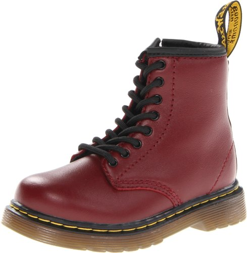 Dr. Martens Brooklee Softy T Cherry Red Lace Boot, Chaussures bateau Mixte Enfant Rosso (Cherry Red)