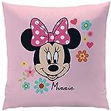 Disney Minnie 043671 Liberty Kissen, Baumwolle, rosa, 40 x 40 cm