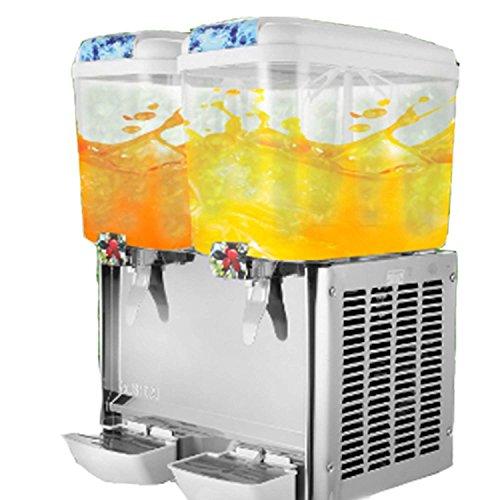 Banpusama - Dispensador de bebidas frías de zumo y jabón (acero inoxidable, 2 tanques, dispensador de zumo, uso comercial)