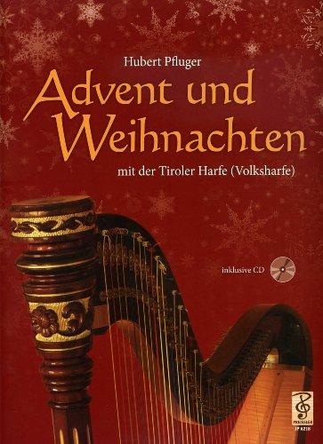 Advent und Weihnachten - arrangiert für Harfe - mit CD [Noten/Sheetmusic] Komponist : Pfluger Hubert