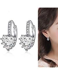 27c54d0a97d3 Amazon.es  pendientes niña plata - Diamante  Joyería