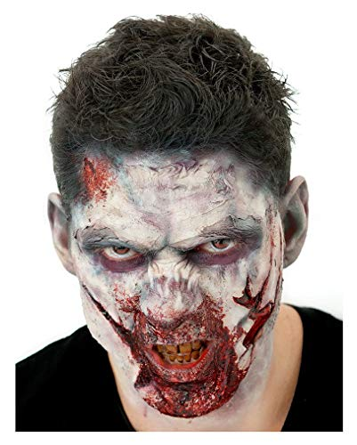 Horror-Shop Professionelles Zombie Make-up Kit mit Latexapplikation 12-teilig (Zombie Make Up Kits)
