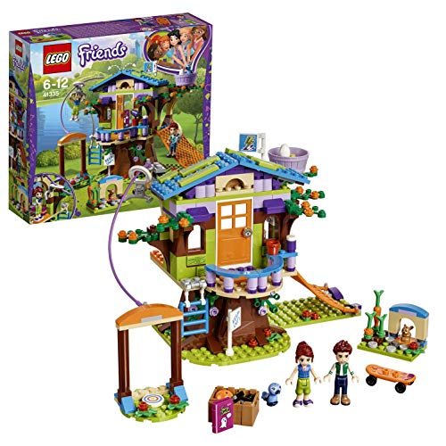 LEGO 41335 Friends Heartlake Mia's Tree House Playset, Mia and Daniel Mini Dolls, Build and Play Fun Toys for Kids