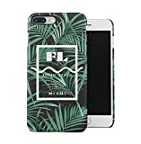 South Beach Florida Miami Paradise Tropisch Palme Dünne Handy Schutzhülle Hardcase Aus Hartplastik Hülle für iPhone 7 PLUS/iPhone 8 PLUS Handyhülle Case Cover