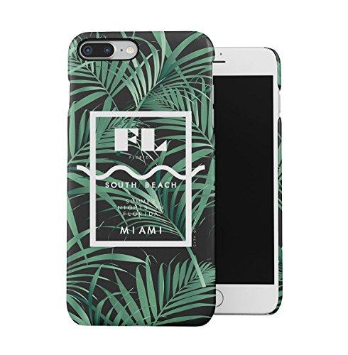 South Beach Florida Miami Paradise Tropisch Palme Dünne Handy Schutzhülle Hardcase Aus Hartplastik Hülle für iPhone 7 Plus/iPhone 8 Plus Handyhülle Case Cover