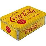 Nostalgic-Art 30725 Coca-Cola - Logo Yellow, Vorratsdose Flach
