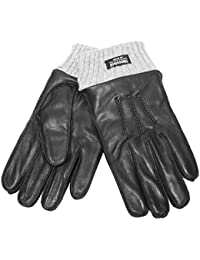 Mens Luxury Soft Leather & Knitted Cuff Thinsulate Smart Warm Winter Dress Glove