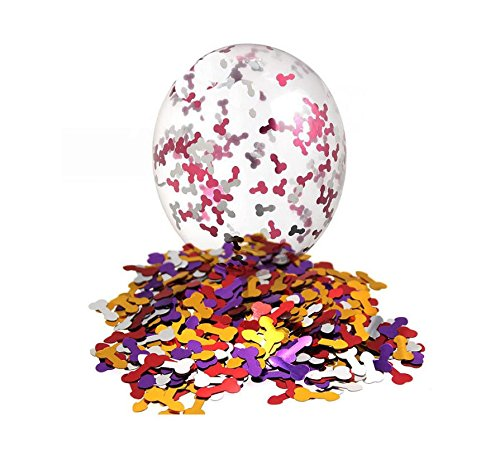 RepairMedia-Shop RM 10x Latex Ballon Transparent mit Penis Konfettis Hochzeit Liebe Love Valentinstag Junggesellinnen Abschied Helium Gasballon Gadget P091 RM