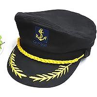 HSL yate barco marinero Capitán disfraz sombrero gorra azul marino  admiral-black 6bcedfa256f