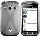 mumbi X-TPU Schutzhülle für Samsung Galaxy Xcover 2 Hülle transparent schwarz