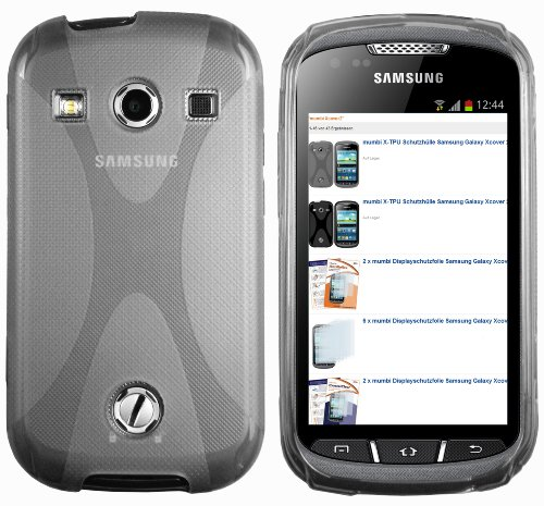 mumbi silicone X-TPU Coque Samsung Galaxy Xcover 2 - Housse skin Etui Case Protecteur Noir transpare