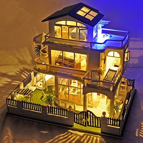 DIY Spielzeug DIY Hütte Ohne Kapuze Handmontiert Modell Villa Geburtstag Geschenk Spielzeug 43*35*8 Vancouver Basics