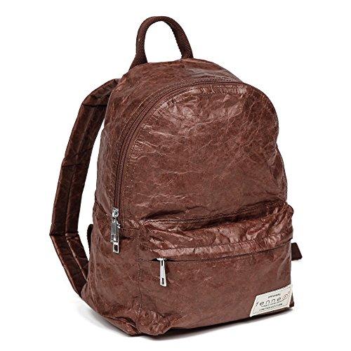 Fenner-Fashion Paper Bag Backpack Lissabon Olivgrün Dunkelbraun