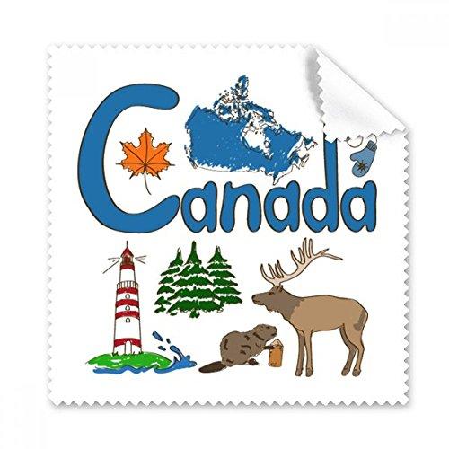 Kanada National Symbol Landmark Muster Brille Reinigungstuch Reinigungstuch Handy-Display von 5x Geschenk