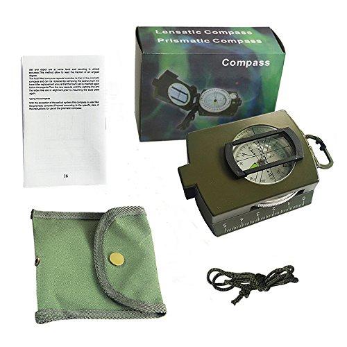 Militär Marschkompass Professioneller Taschenkompass Peilkompass Kompass mit Klinometer Tragschlaufe, Tasche - 7