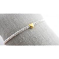 Kugelarmband Golden Heart 925 Silber