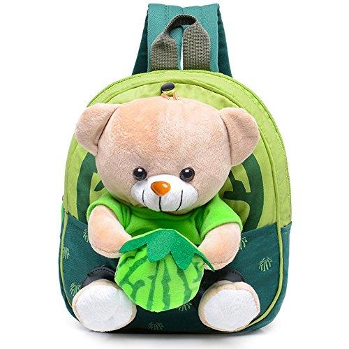 Vox Tier Babyrucksack Jungen Kindergartenrucksack Kindergartentasche Kleinkinder Rucksack (Grün)